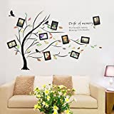 wall photo frames Photo Wall, Living Room Bedroom Sofa Background Wall Decoration, Deciduous Tree Wall Stickers, Photo Wall, Photo Wall, Frame Wall (Color : 1#)