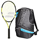 Babolat Nadal Junior 26 Inch Tennis Racquet bundled with a Black/Blue Team Tennis Backpack