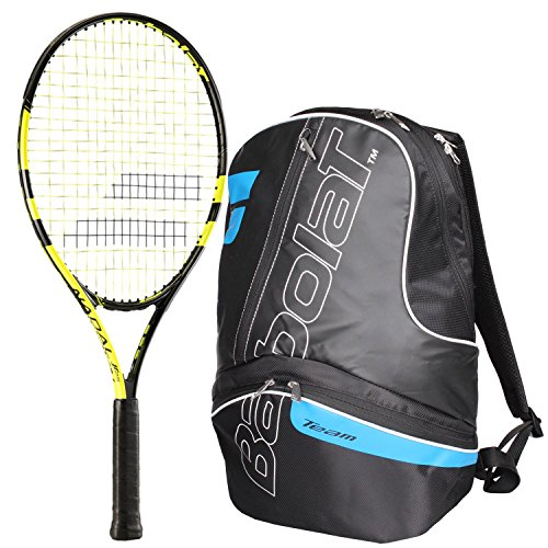 Babolat Hat (Babolat Nadal Junior 25 Inch Tennis Racquet bundled with a Black/Blue Team Tennis Backpack)
