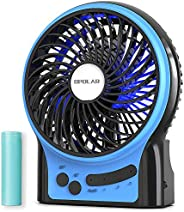 OPOLAR Portable Travel Mini Fan with 3-13 Hours Battery Life for Camping, Personal Battery Operated or USB Pow