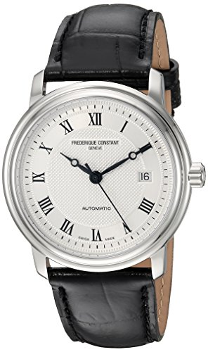 Frederique-Constant-Mens-Classics-Automatic-Stainless-Steel-and-Leather-Casual-Watch-ColorBlack-Model-FC-303MC4P6