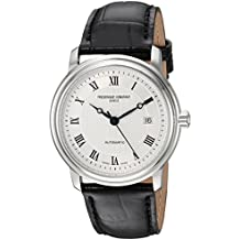 Frederique Constant Men's 'Classics' Automatic Stainless Steel and Leather Casual Watch, Color:Black (Model: FC-303MC4P6)