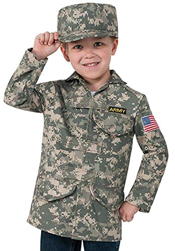 Military Dress Up Costumes (Rubie's Deluxe Kid's Camo Combat Role Play Dress-Up)