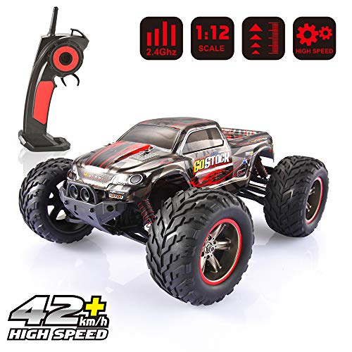 GoStock RC Hobby Truck 1: 12 Scale Electric Monster Truck Off Road High Speed 42km/H Fast Race Car 2.4Ghz Radio Remote Control Vehicle for Adults & Kids RC Hobby Grade
