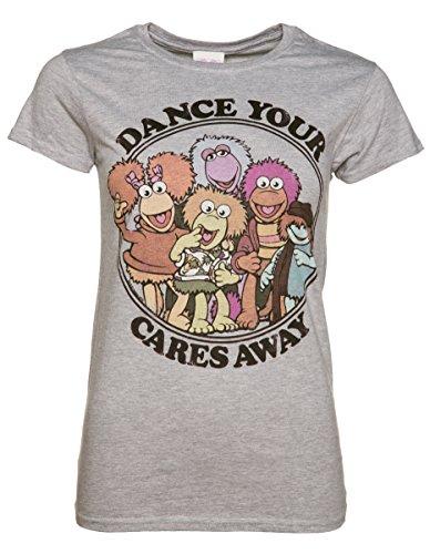 (Womens Fraggle Rock Dance Your Cares Away T Shirt - 80s TV Show Tees)