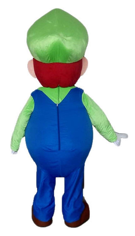 Amazon.com: Deluxe Adult Size Mario Bro Luigi Mascot Costume ...