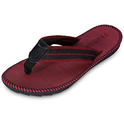 Peep Jayden Wedge Toe - KCatsy Breathable Casual Toe Post Stripe Non-Slip Flip Flops Men Slippers