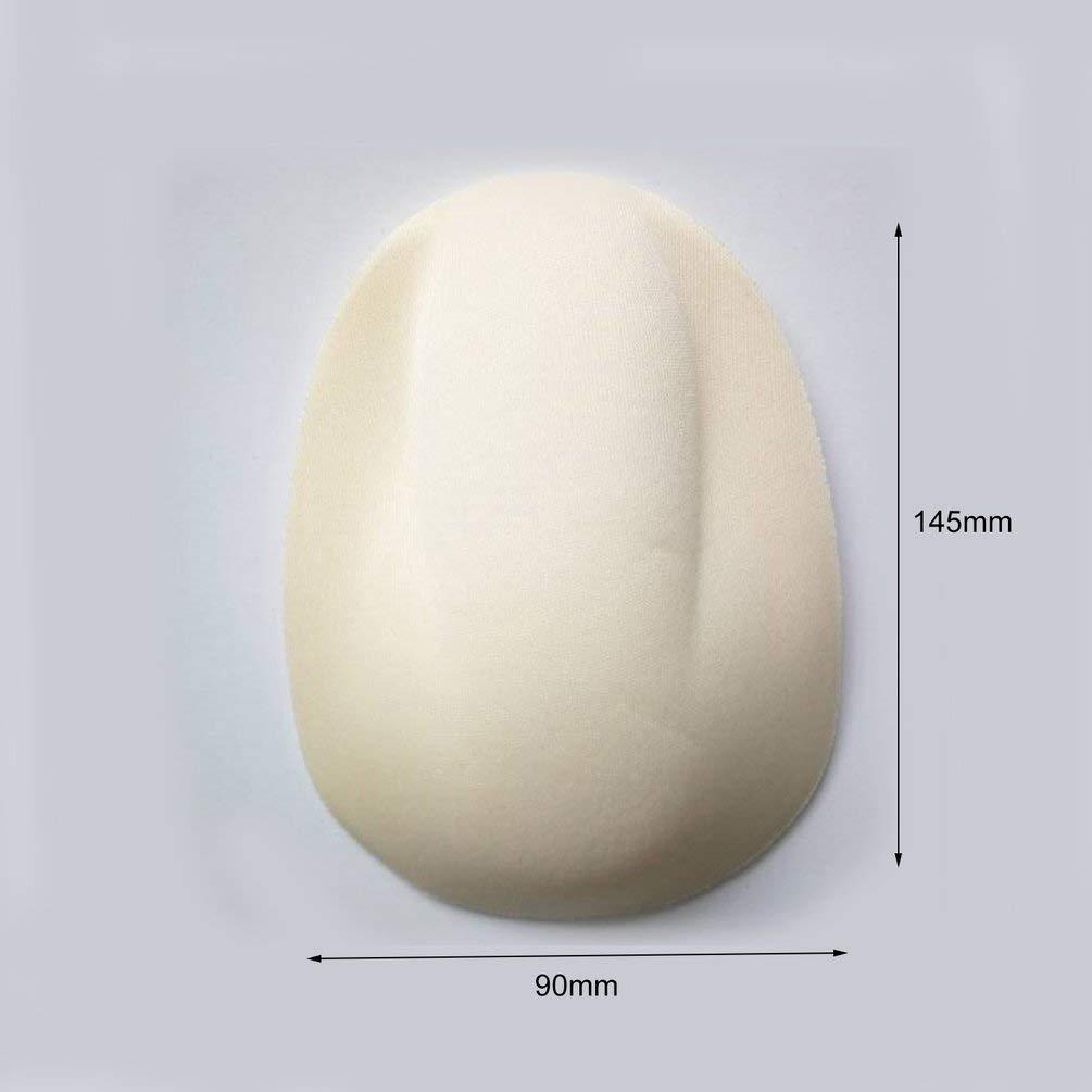 Deniseonuk Mens Underwear Sponge Cup Safety Cotton Sponge Push Mens Bulge Pad Enhancer Underpants Sponge Pad Cushion