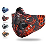 Reliablee Dust Mask, Activated Carbon Dustproof Mask Fitness Mask Allergy Flu Prevention Mask Cycling Mask Filter for Running Bicycling Skiing Outdoor