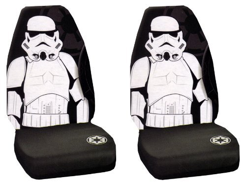 Storm Trooper Villain Character Full Body Star Wars Car Truck SUV Universal-fit Bucket Seat Covers - PAIR by LA Auto Gear (Fit Bucket Storm)