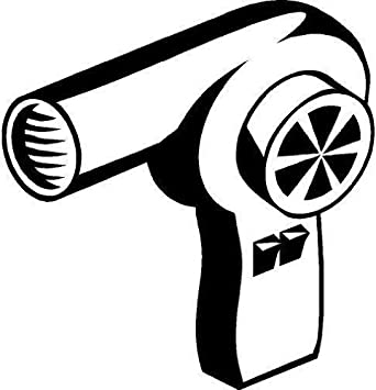 Secador de pelo vinilo adhesivo adhesivo coche carretilla ventana - 50cm Altura - 50cm Ancho - Negro Vinilo: Amazon.es: Coche y moto
