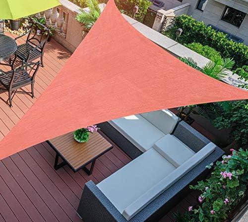 SHADE SPRING 20'x20'x20' Terra Triangle Sun Shade Sail UV Block Canopy 185GSM Awning
