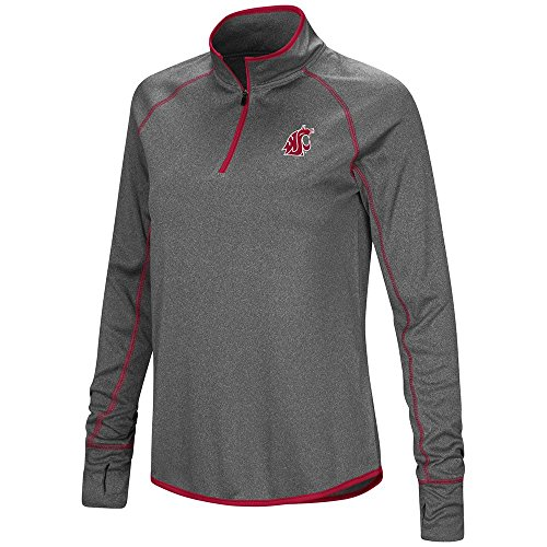 Womens Washington State Cougars Quarter Zip Wind Shirt - M