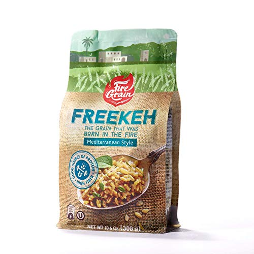 FireGrain Whole Grain Freekeh worlds most nutritious super food, fresh from Galilee, taste the Mediterranean. Enjoy Delicious Vegan Freekeh with Every Meal. 10.6 oz (Mediterranean, 1 Pack)