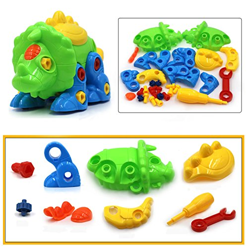 SUPRBIRD Take Apart Toys, Dinosaur Toys (70 pieces), Construction Engineering STEM Learning Toy Building Construction Play Set, Best Toy Gift for Kids (Set of 2)