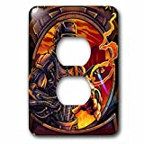 3dRose Light, illustration, graphic Design, person - Welder that is all machine using a welding tool - Light Switch Covers - 2 plug outlet cover (lsp_252470_6)