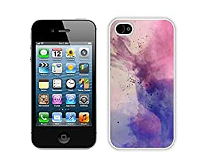 Diy Iphone 4s Case,Deer Art White Plastic Case iPhone 4s Case,Unique Design Apple 4S Case