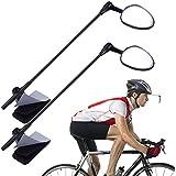 PChero Bike Helmet Mirror, 360 Degree Adjustable Bicycle Cycling Rear View Helmet Mirror