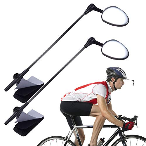 PChero Bike Helmet Mirror, 360 Degree Adjustable Bicycle Cycling Rear View Helmet Mirror