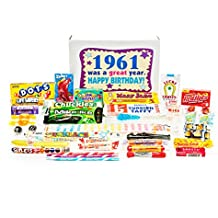 Woodstock Candy 1961 57th Birthday Gift Box - Retro Nostalgic Candy Mix for 57 Year Old Man or Woman Jr.