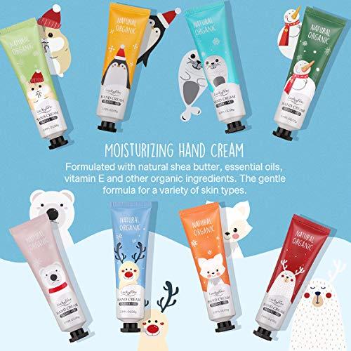 Hand Cream Gift Set, 8 Pack Travel Size Nourishing Hand Cream Set with Natural Shea and Vitamin E, Moisturizing…