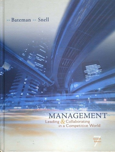 Management Leading and Collaborating in a Competitive World (Management Leading & Collaborating In A Competitive World)