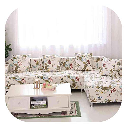 Corner/L-Shaped Sectional Sofa Cover 2pcs/Set Fashion Printed Stretch Chaise Cover Non-Slip Couch Cover All-Inclusive Slipcovers,color11,2 seat and 2 seat