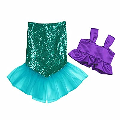 iEFiEL Kids Girls Shiny Sequins Mermaid Tails Party Holiday Costume Outfits Fancy Dress: Clothing