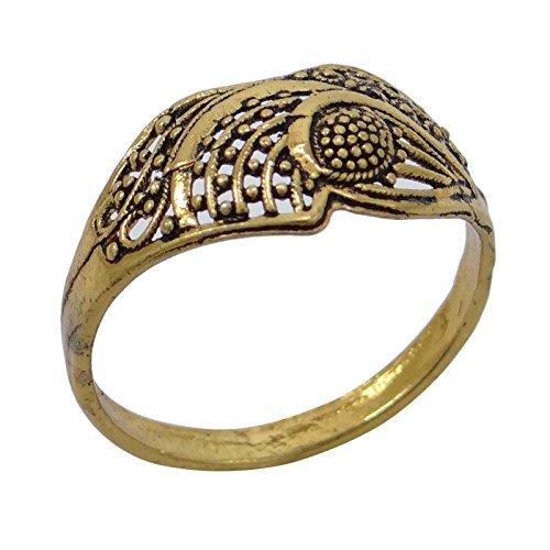 Banithani plaqué or traditionnel bollywood indien concepteur bague d'usure du parti bijoux