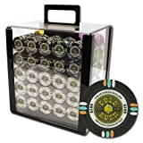 Claysmith Gaming 1,000 Ct Gold Rush Poker Set - 13.5 Clay Composite Chips with Acrylic Display Case for Casino Games