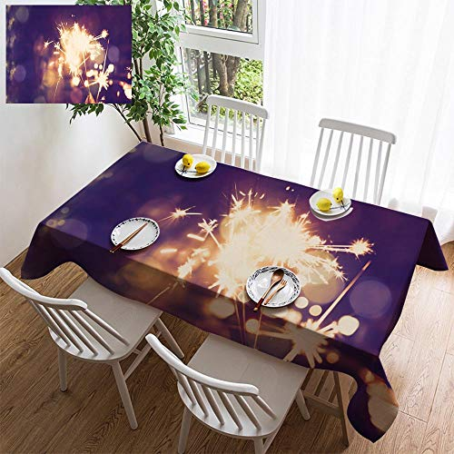6 Sturbridge Light (HOOMORE Simple Color Cotton Linen Tablecloth,Washable, Abstract Light Background Decorating Restaurant - Kitchen School Coffee Shop Rectangular 94×54in)