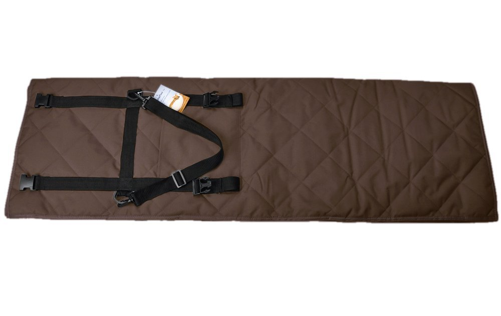 long rich Indoor//Outdoor Pet Travel Water Proof Blanket and Seat Protector Brown,by Happycare Textiles 54 x 64