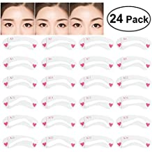 NUOLUX 8 Sets Eyebrow Stencils Eyebrows Grooming Stencil Kit Shaping Templates DIY Tools-24 pcs