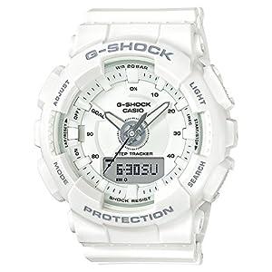 Ladies' Casio G-Shock S-Series White Step Tracker Watch GMAS130-7A