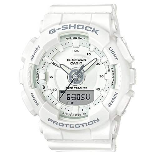 Ladies' Casio G-Shock S-Series White Step Tracker Watch GMAS130-7A