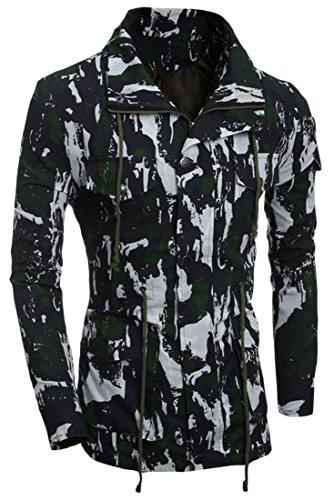 NQ Men's Trench Coat Jacket Clothes MARPAT WD Jackets Overcoat Green S