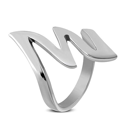 Stainless Steel Lightning Bolt Fancy Ring