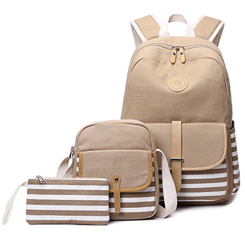 Awesome Backpacks For Girls (Abshoo Causal Travel Canvas Rucksack Backpacks for Girls School Bookbags (Khaki)