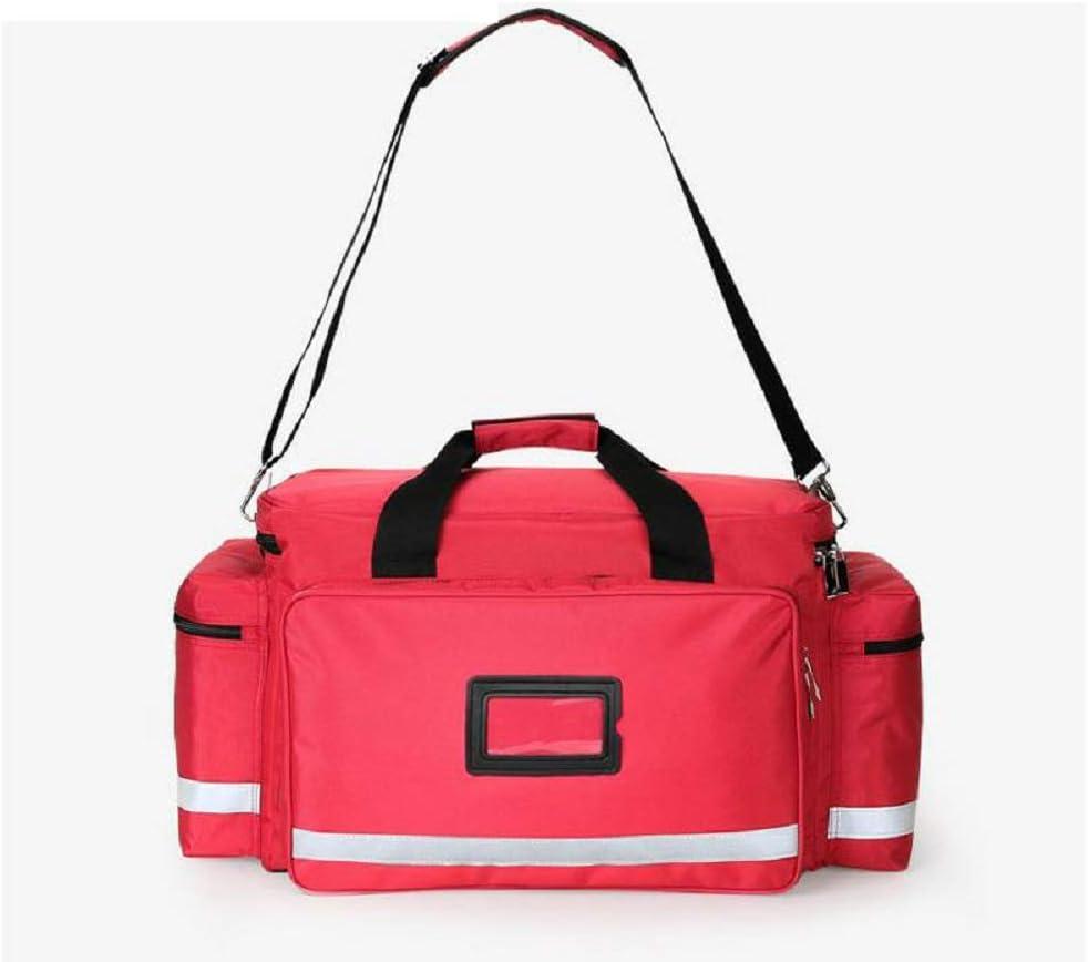 屋外応急処置キットアウトドアスポーツレッドナイロン防水クロスメッセンジャーバッグ家族旅行緊急医療バッグ