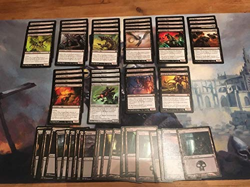 Mono Black Infect Deck - Modern Legal - Custom Built - Magic The Gathering - MTG - 60 Card
