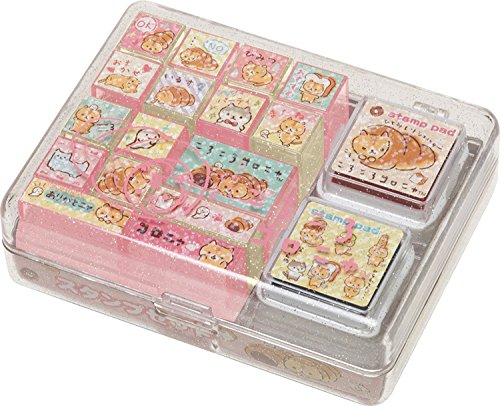 - San-X Corocoro Coronya (corone pan to hitomishiri neko) Stamp Set FT41101