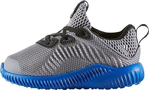 adidas alphabounce i - Zapatillas deportivaspara niños, Gris - (GRIS/ONICLA/AZUL), 20
