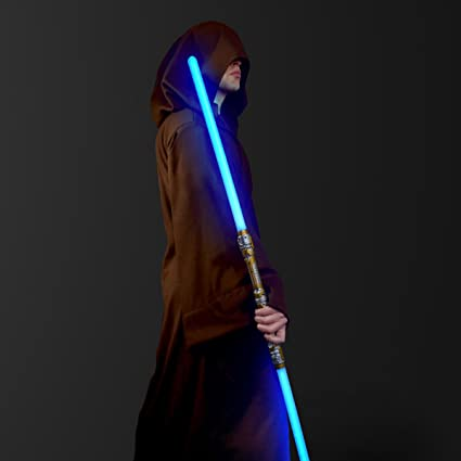 FlashingBlinkyLights Double-Sided LED Light Up Sword Saber with Blue LED &  Sound Effects…