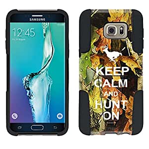 Samsung Galaxy S6 Edge Plus Hybrid Case KEEP CALM and Hunt On 2 Piece Style Silicone Case Cover with Stand for Samsung Galaxy S6 Edge Plus
