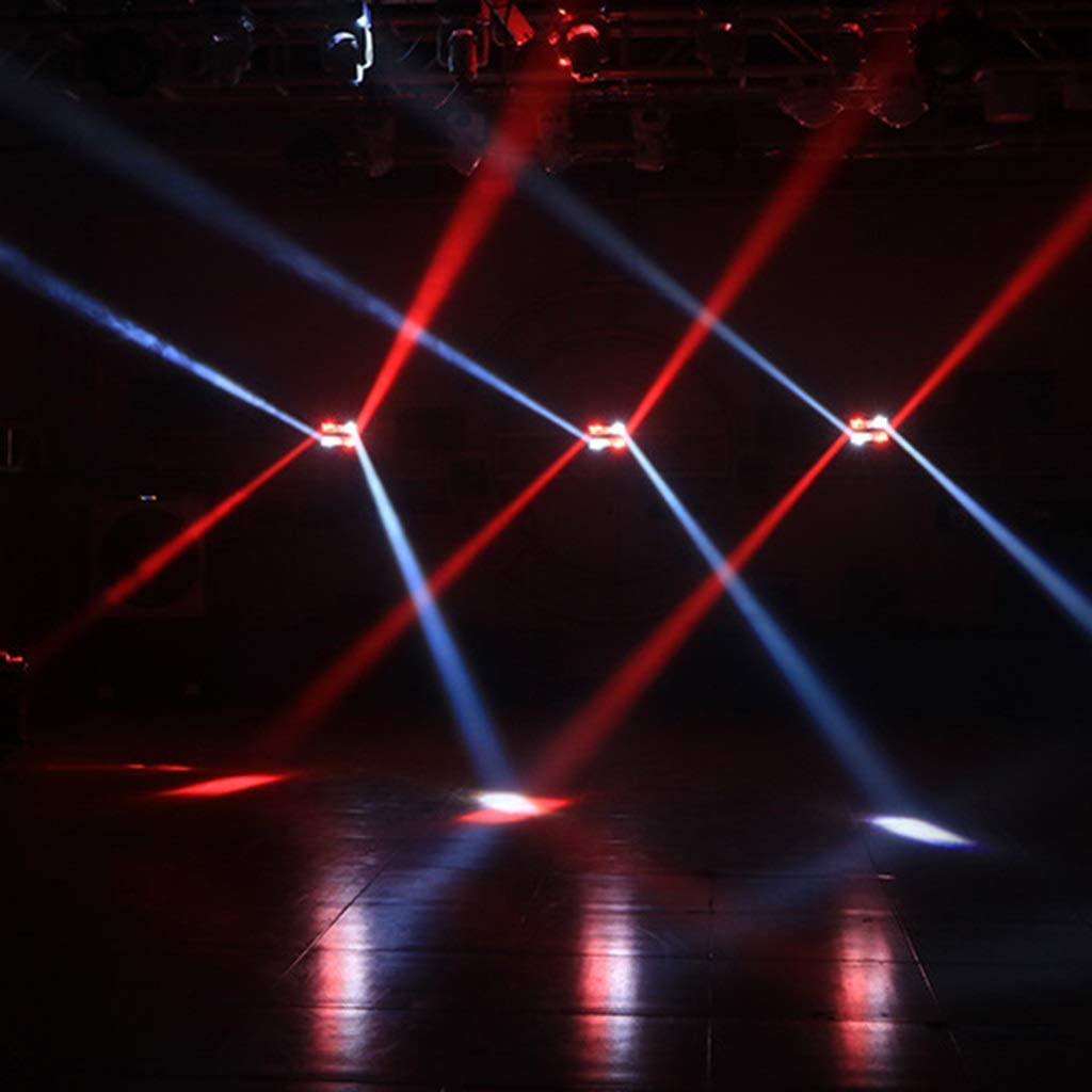 Stage Light,Moving Head DJ Spider Light LED 8x3W RGBW 45W LED Light Disco DMX512 Portable DJ Disco LED Stage Light For KTV Parties Indoor Bar Club 098
