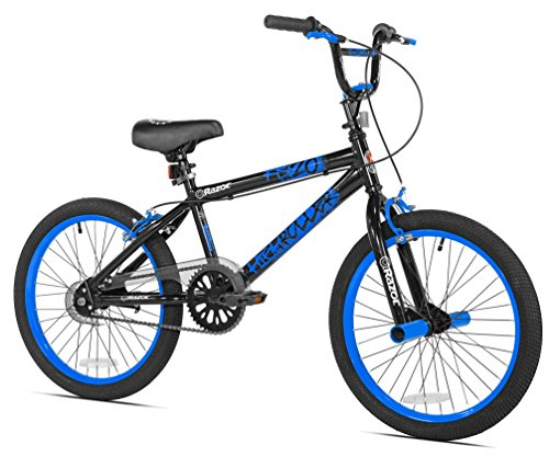 Razor High Roller BMX/Freestyle Bike, 20-Inch, Blue (For Old Kids Bike 9 Years)
