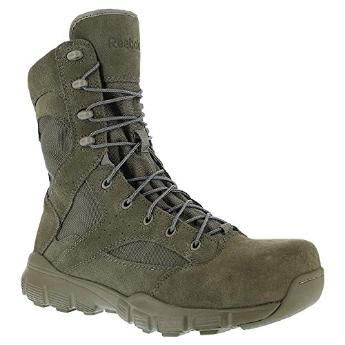 "Reebok Men's 8"" Dauntless Composite Toe Combat Boot Sage Green 10.5 M"