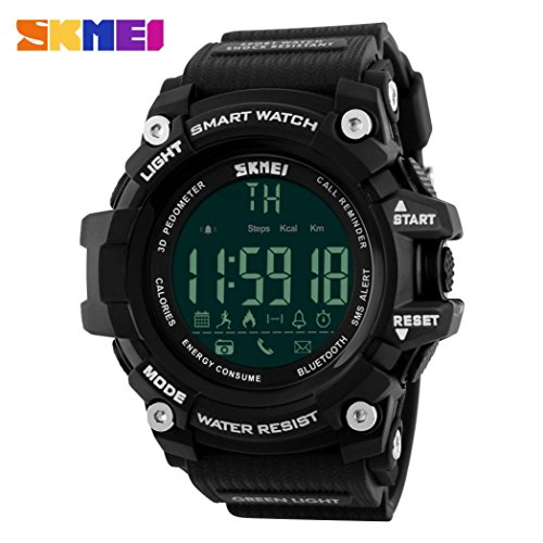 Sympath Sport Waterproof Bluetooth Smart Watch Phone Mate For Smartphone (Black)