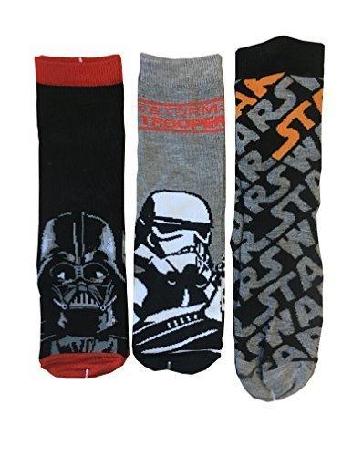 Star Wars infantil calcetines Pack de 3 Negro negro, gris