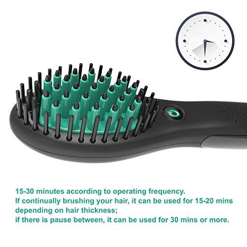 Travel Straightening Brush, Rechargeable Hair Straightening Brush (Black) by Showliss (Image #6)